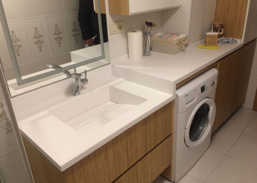 Corian Banyo Tezgah Tasarımı