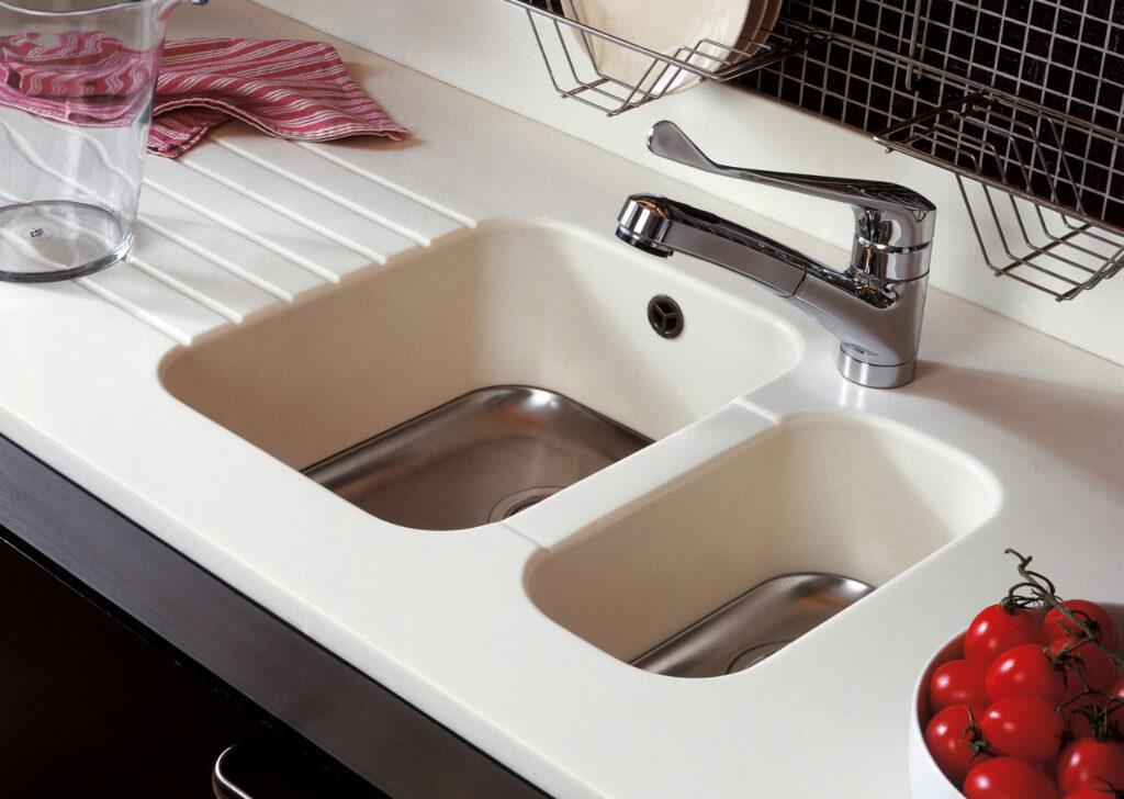 Mutfak tezgahı için DuPont Corian Eviye Modelleri