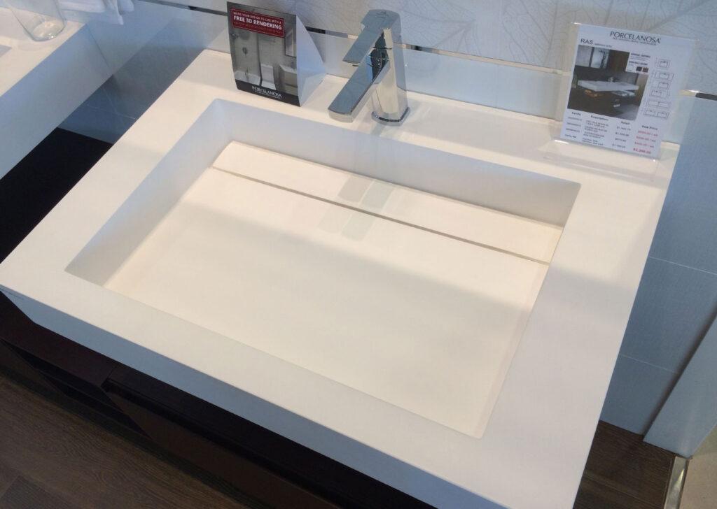 Gizli Giderli Banyo Lavabo Tezgahı