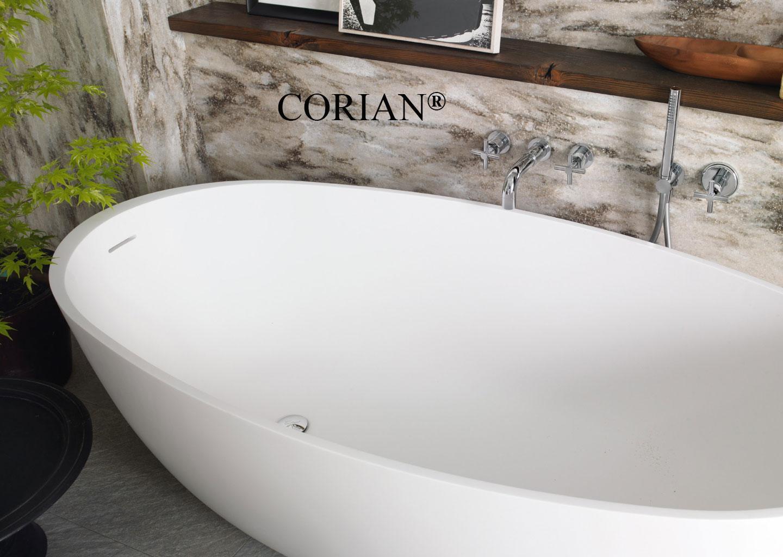 Corian Akrilik Küvet ve Duş Teknesi Modelleri